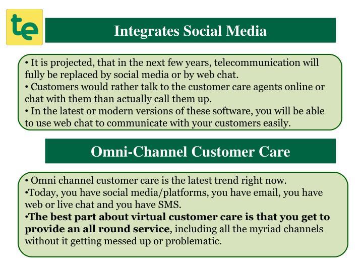 Integrates Social Media