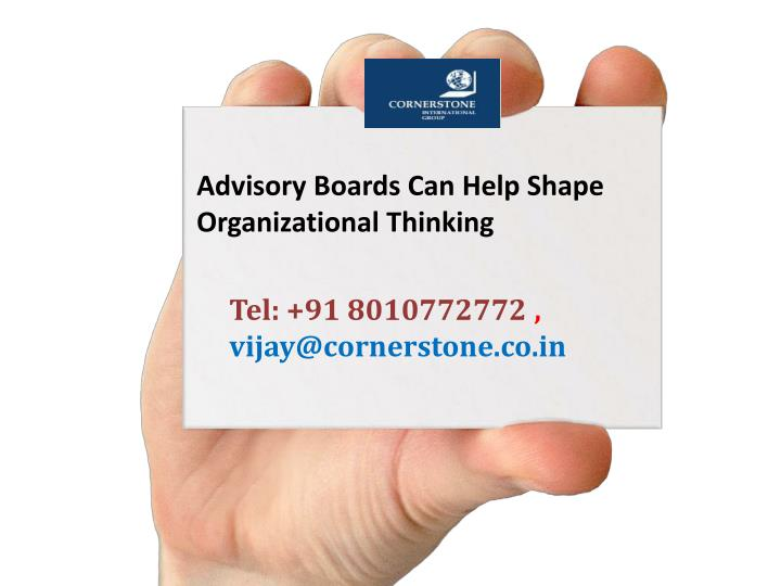 Advisory Boards Can Help Shape