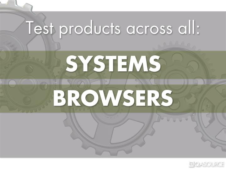 Test products across all: