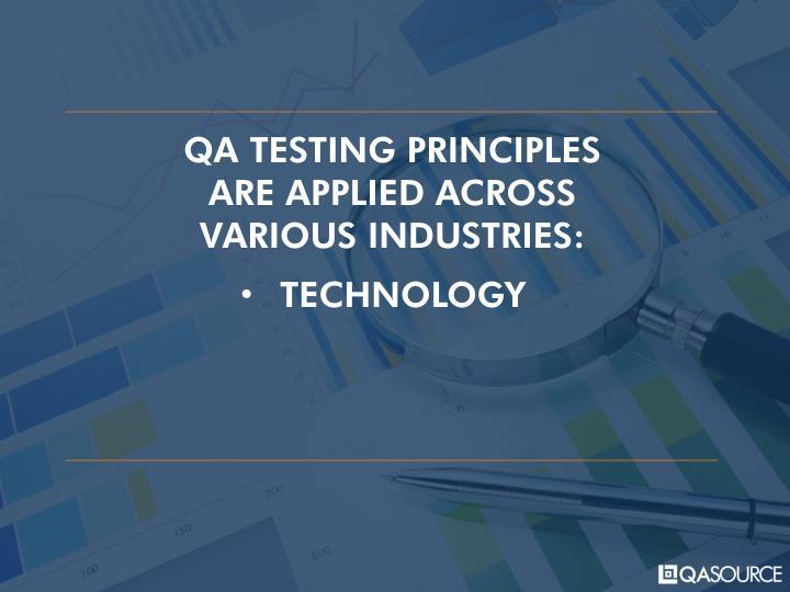 QA TESTING PRINCIPLES