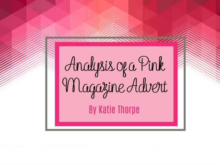Analysis of a Pink