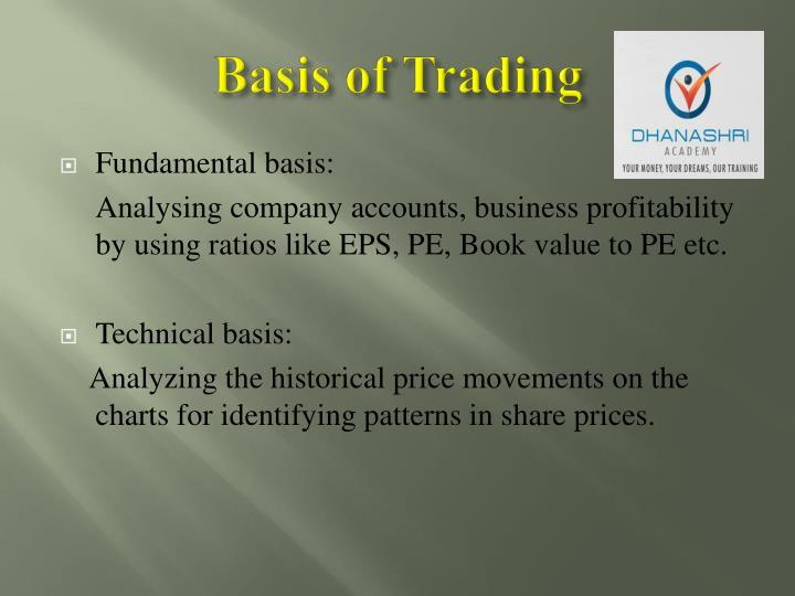 Basis of Trading