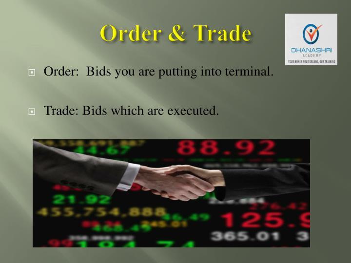 Order & Trade