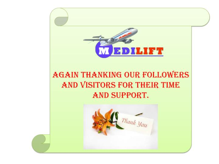 Again thanking our followers and visitors for their time and support.