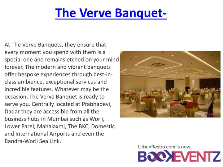 The Verve Banquet-