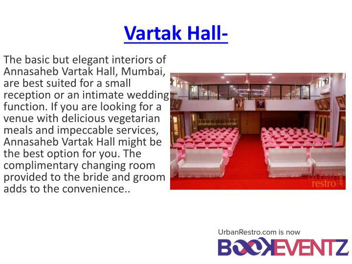Vartak Hall-