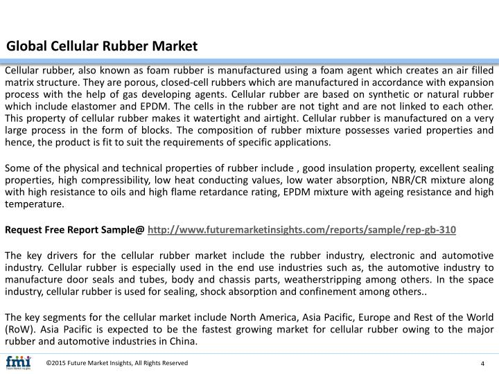 Global Cellular Rubber Market