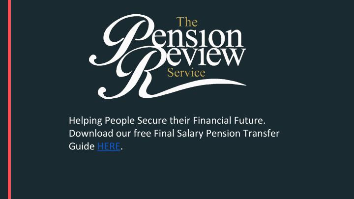 Helping People Secure their Financial Future.