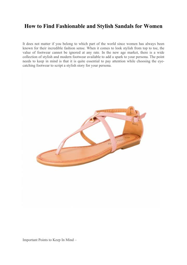 How to Find Fashionable and Stylish Sandals for Women