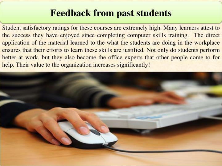 Feedback from past students