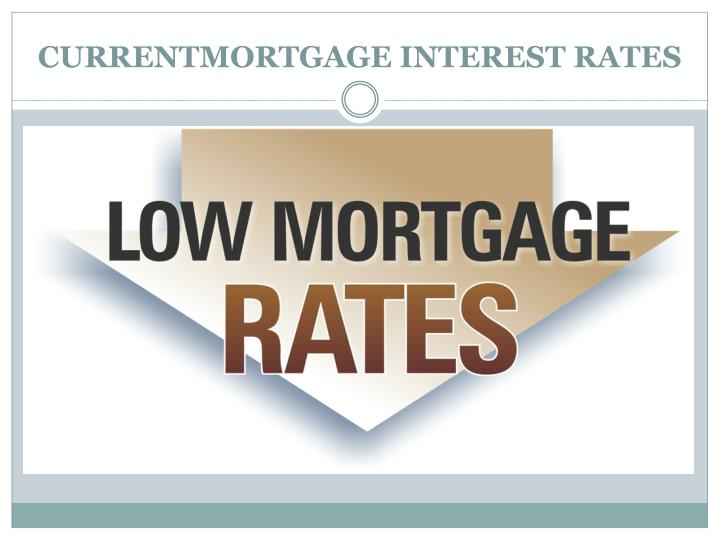 CURRENTMORTGAGE INTEREST RATES