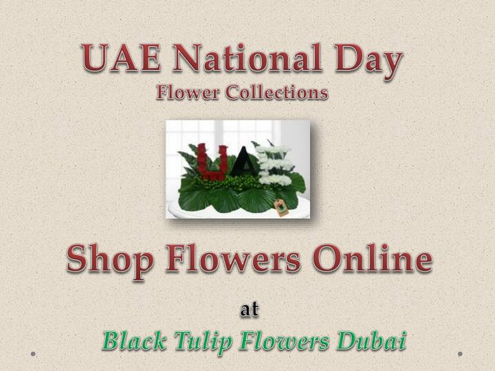 Uae national day flowers collections black tulip flowers