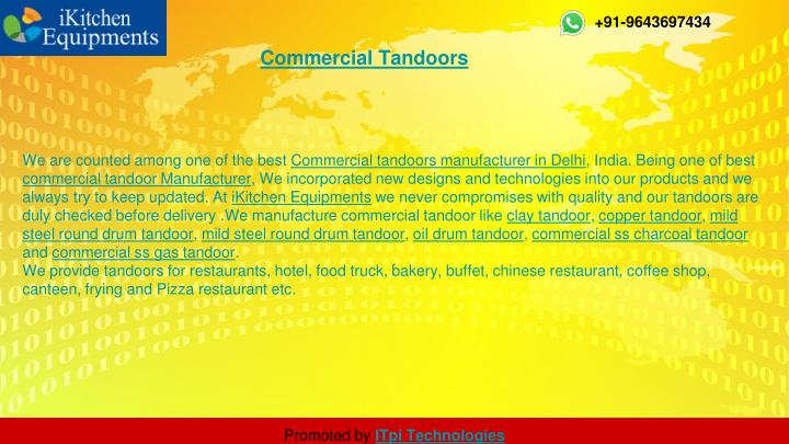Commercial tandoors
