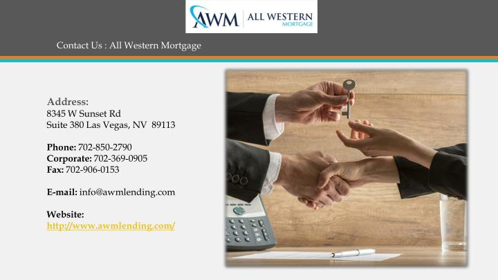 Contact Us : All Western Mortgage