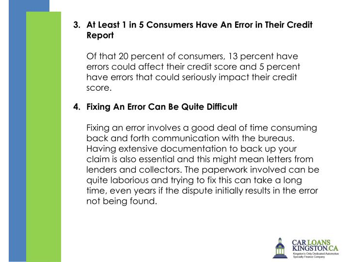 At Least 1 in 5 Consumers Have An Error in Their Credit Report