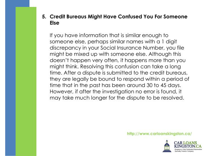 Credit Bureaus Might Have Confused You For Someone Else