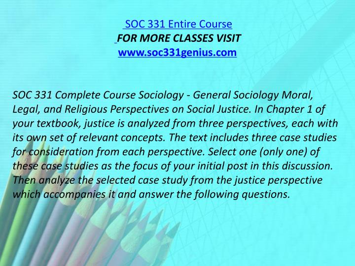SOC 331 Entire Course