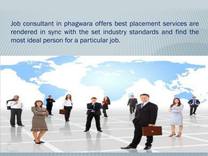 Job consultant in