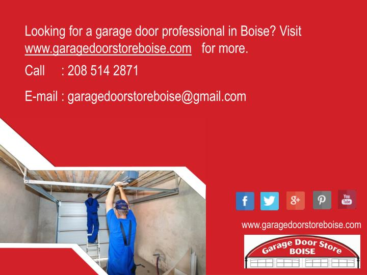 Looking for a garage door professional in Boise? Visit