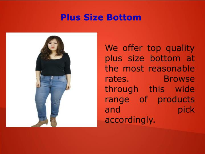 Plus Size Bottom