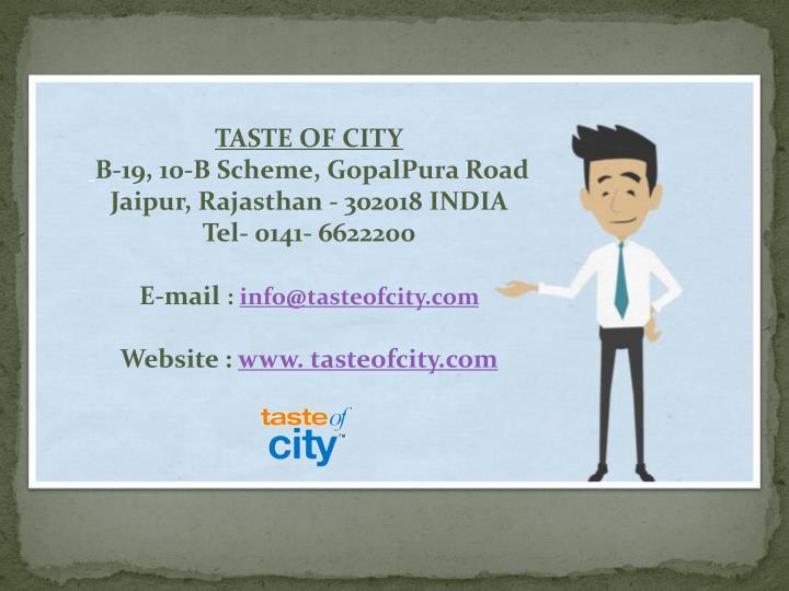 TASTE OF CITY