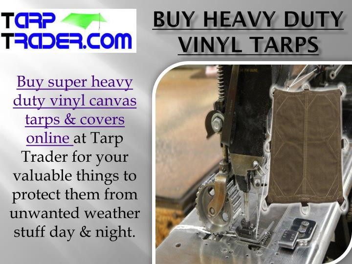 Buy heavy duty vinyl tarps