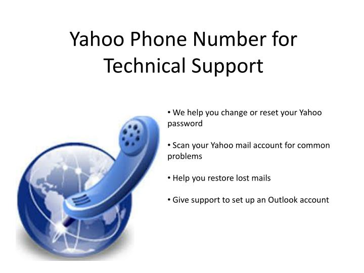 Yahoo phone number for technical support