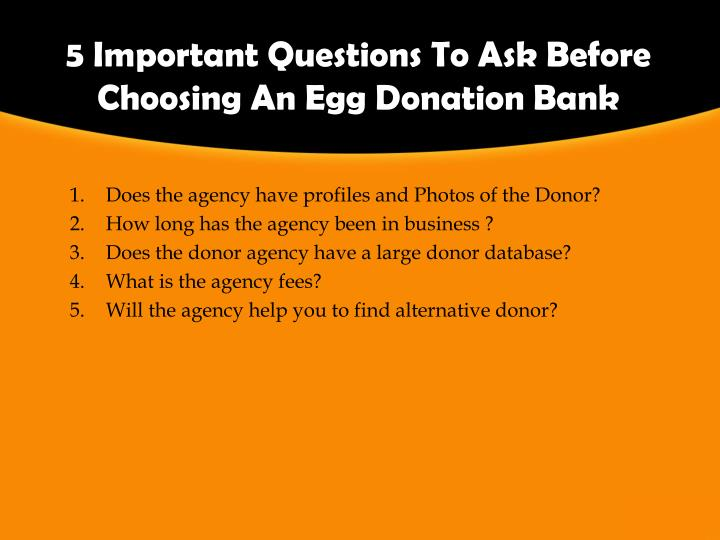 5 important questions to ask before choosing an egg donation bank