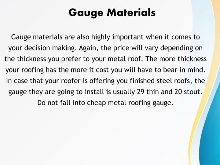 Gauge Materials