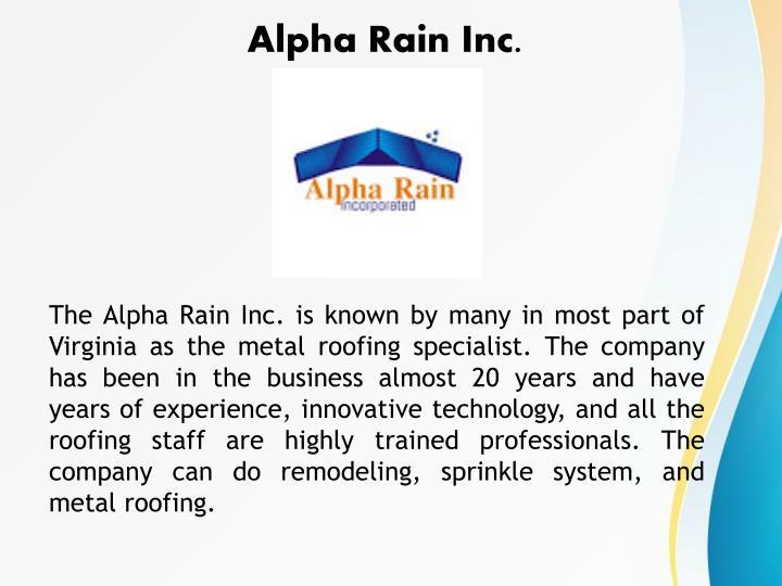 Alpha Rain Inc.
