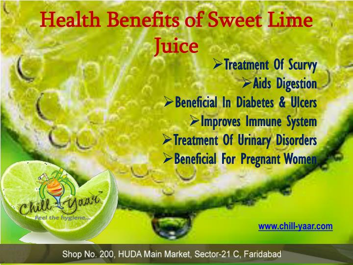 Health Benefits of Sweet Lime Juice