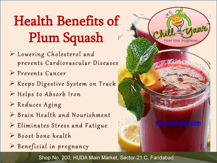 Health Benefits of Plum Squash