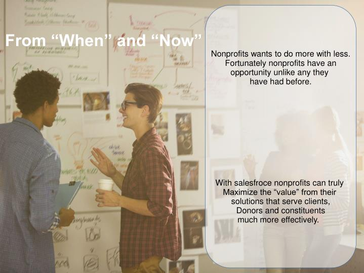 Nonprofits wants to do more with less.