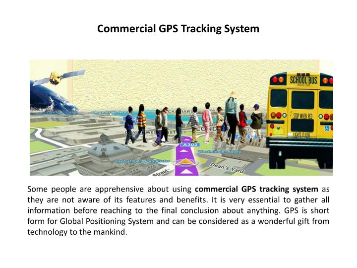 Commercial GPS Tracking System