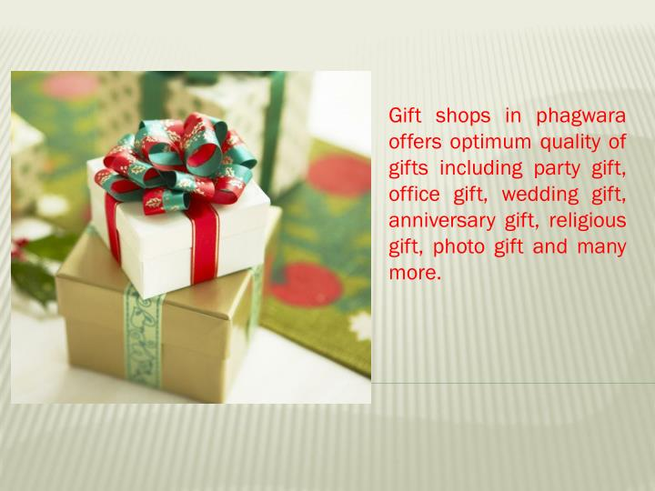 Gift shops in