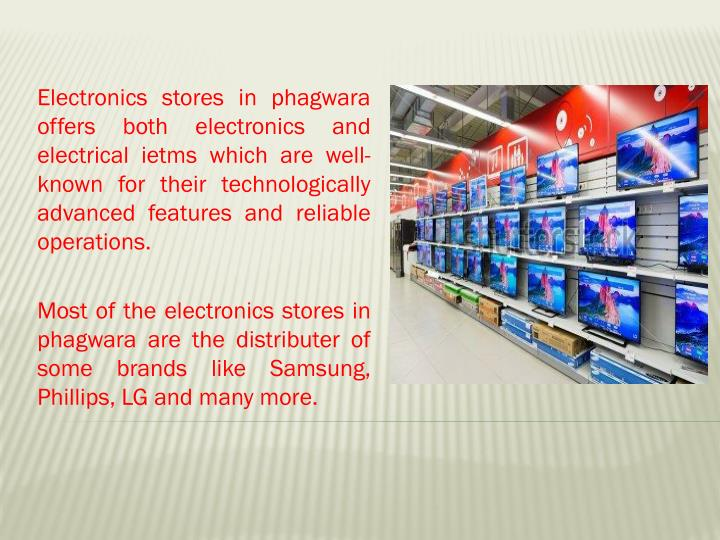Electronics stores in