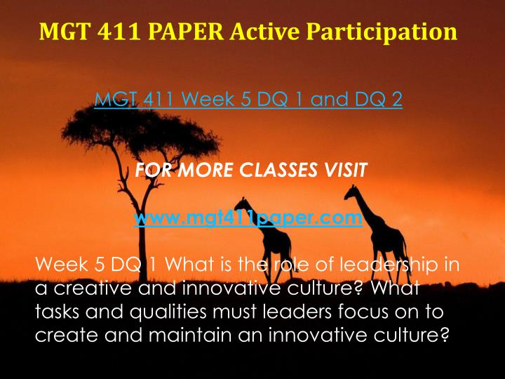 MGT 411 PAPER Active Participation