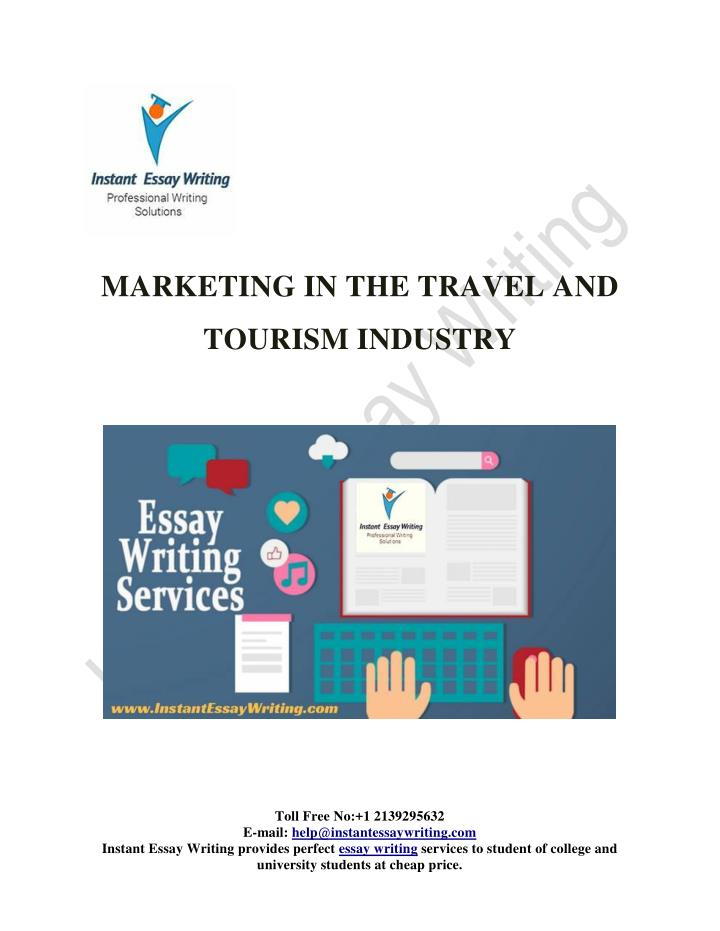 MARKETING IN THE TRAVEL AND