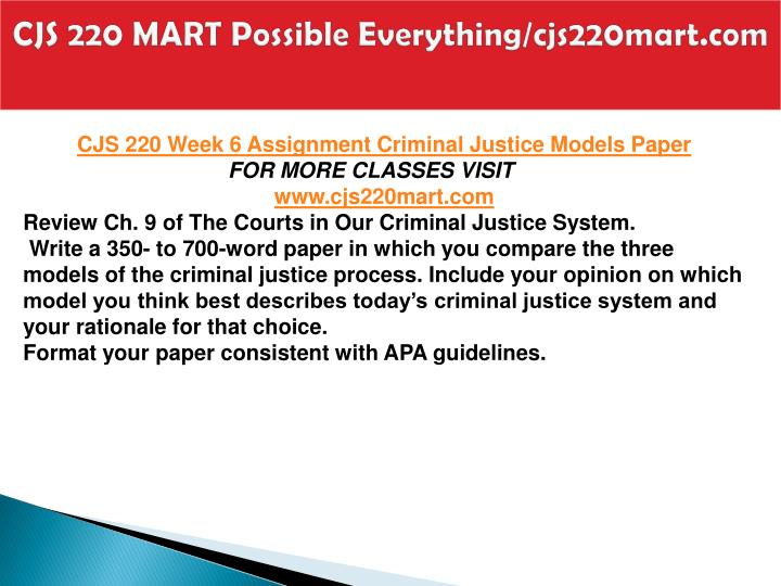 CJS 220 MART Possible Everything/cjs220mart.com