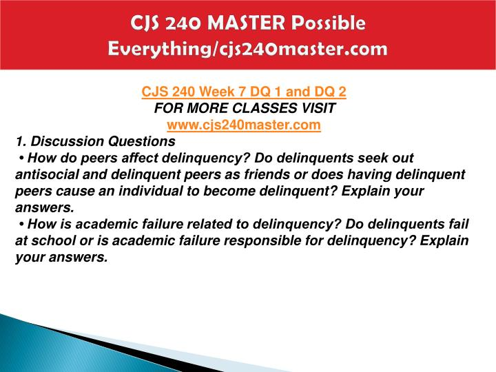 CJS 240 MASTER Possible Everything/cjs240master.com