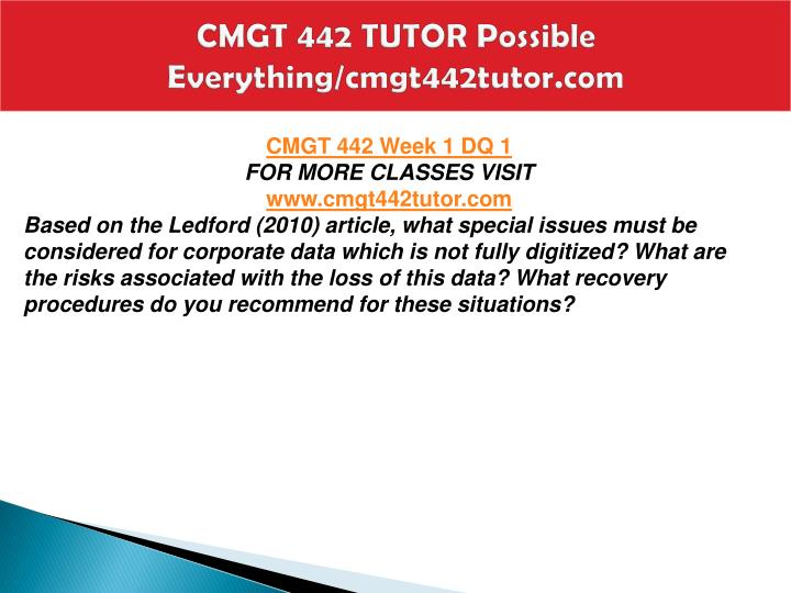 Cmgt 442 tutor possible everything cmgt442tutor com2