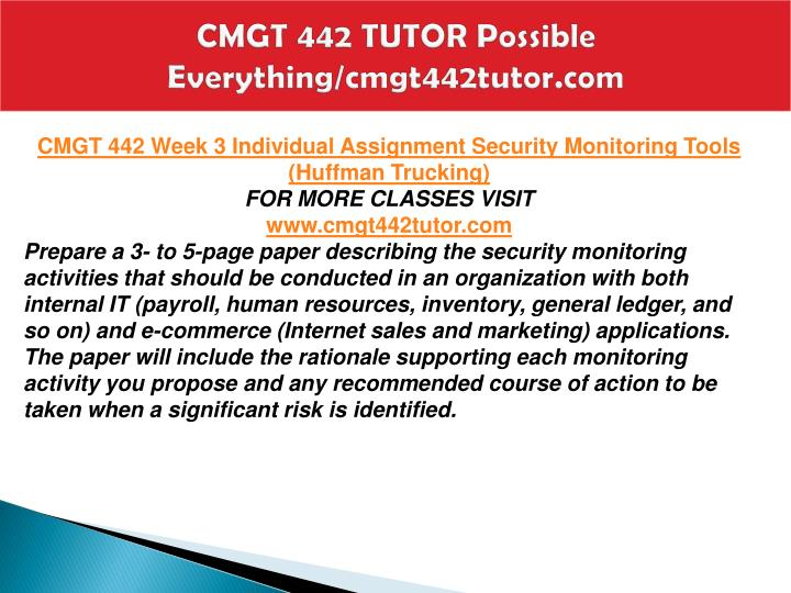 CMGT 442 TUTOR Possible Everything/cmgt442tutor.com