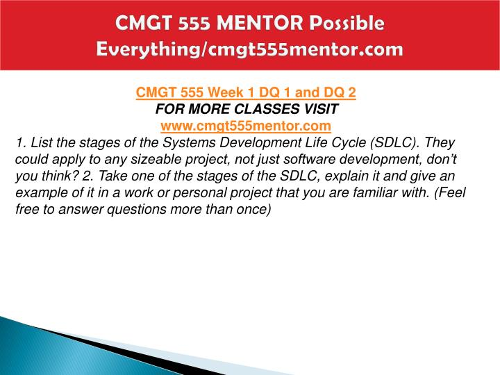 Cmgt 555 mentor possible everything cmgt555mentor com2