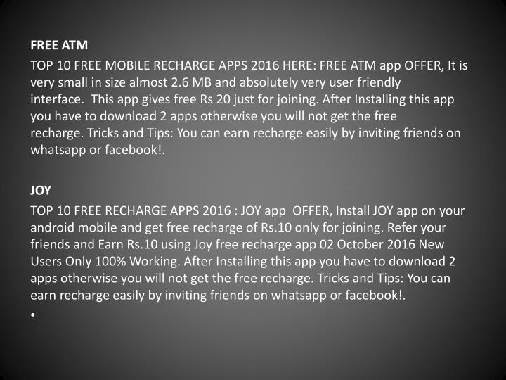 FREE ATM