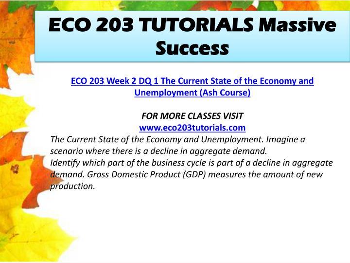 ECO 203 TUTORIALS Massive Success
