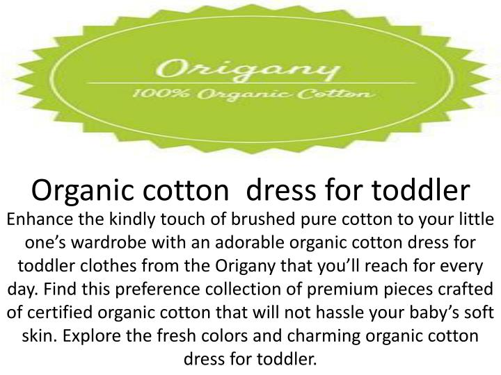Organic cotton  dress for toddler