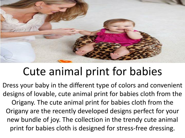 Cute animal print for babies