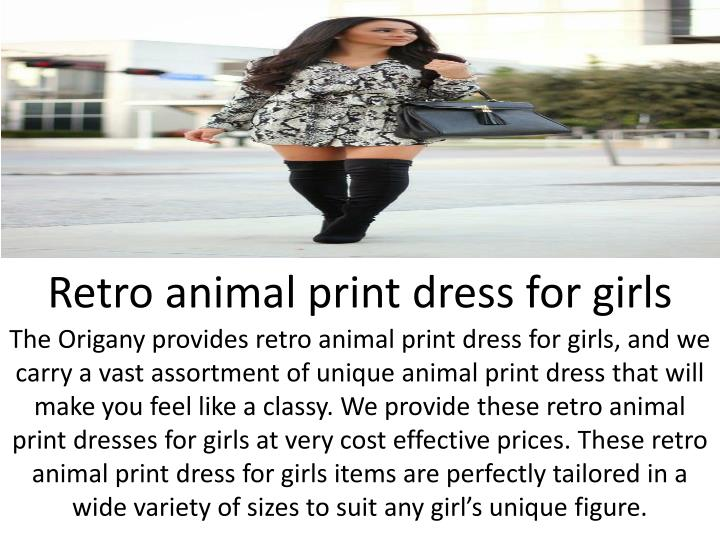 Retro animal print dress for girls