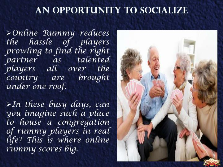 An opportunity to Socialize
