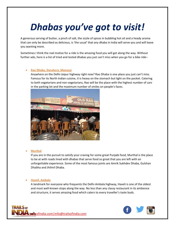 Dhabas you've got to visit!